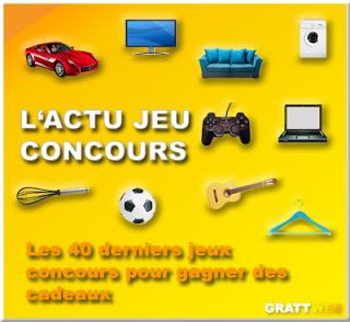 Les 40 derniers jeux concours gratuits du 24-04-2014, Instant gagnant, tirage au sort, concours créatif...